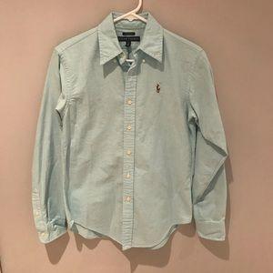 Ralph Lauren Blue Classic Fit Button Down